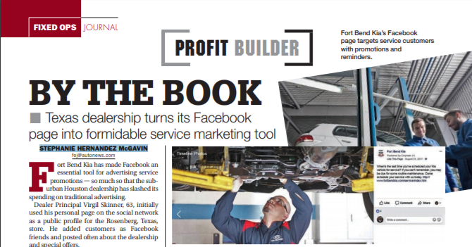 By The Book: Texas Dealership Turns its Facebook Page Into